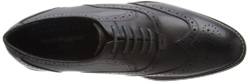 Hush Puppies Style Brogue, Scarpe stringate uomo nero (Black Leather)