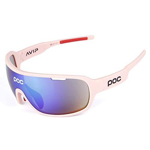 OBAOLAY Stylische Outdoor-Radtour in polarisiertem Glas-/TR90-Material, resistent gegen Schlagsport Goggles/Enthält fünf Objektive,C
