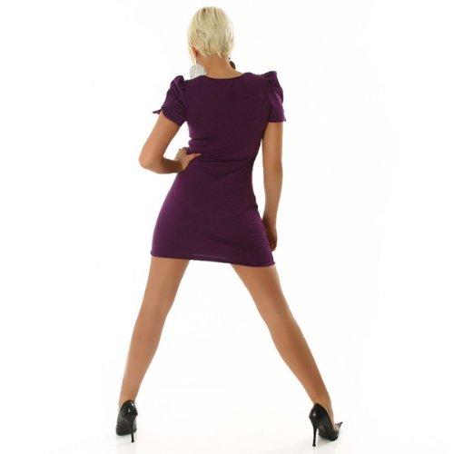 Fesches Minikleid Longshirt mit Nieten Violett (8335) Violett