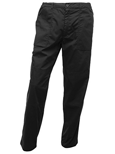Image of Regatta Men's Action Multi Pocket Walking Trousers - 36W x Short - Black