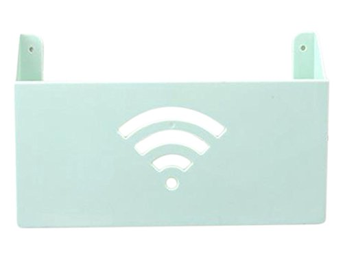 Wlan-breitband-router (Hosaire 1x Router WLAN Aufbewahrungsbox Kreative Wand Montiert WLAN Router Storagebox Multifunktions Breitband Zeitschrift Aufbewahrungs-Box)