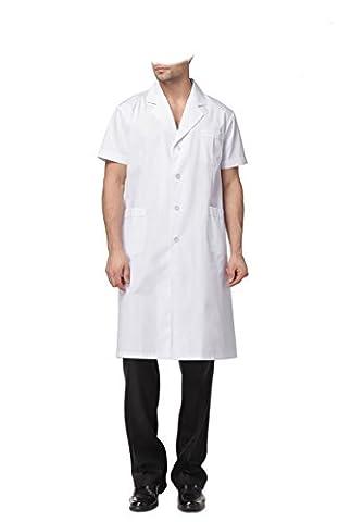 WDF blanc blouse laboratoire vêtements blouse médical vêtements de travail blanc mâle manches courtes paragraphe longue