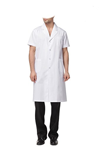 WDF laborkittel kittel medizinische kittel weiß arztkittel weiße herren kurzarm lange unterabschnitt Kurze Ärmel (Krankenschwester-uniform-schuhe)