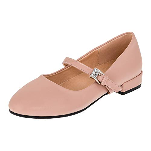 �dchen Ballerinas Schuhe mit Schnalle für Hochzeit Kommunion Feier M480rs Rosa 35 EU ()