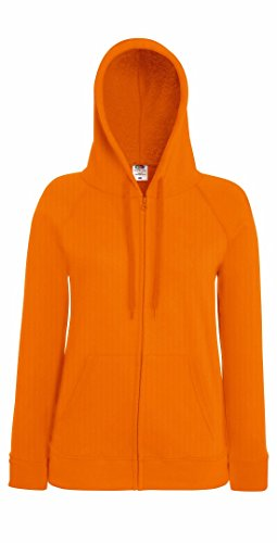 Fruit of the Loom Sweat à capuche avec fermeture Éclair pour femme Orange - Orange
