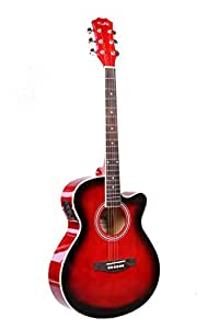 "Bronz BD-04C-EQ, 40""- 6-String Electro-Acoustic  Guitar, Right Handed, Red Sunburst, 3 Band EQ with Tunerand Gig Bag"
