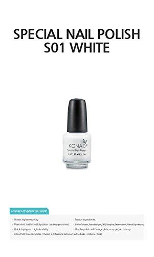 Konad Mini esmalte de uñas color blanco 5ml