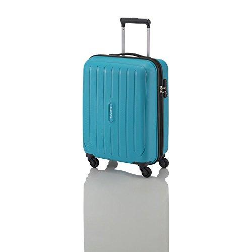 "Travelite Valise trolley ""Uptown"" avec 4 roues Taille S pétrole Koffer, 55 cm, 38 liters, Blau (Pétrole)"