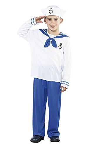 OSE - Größe 130-140 cm, Hafenfest Kapitän Sailor Matrosen Seemann Marine Boy Junge (Seemann-kostüm Für Jungen)