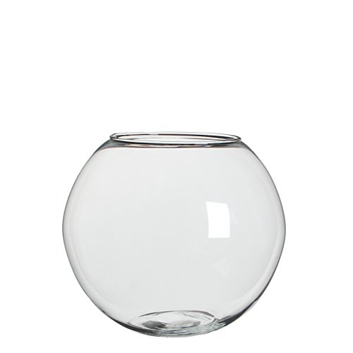 Mica decorations 1022997 Roza Vase, Glas, Transparent, 24 x 24 x 20 cm