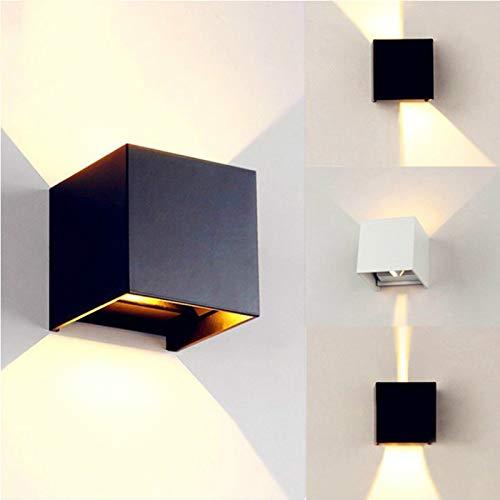 Lampada da parete per esterno lampada da parete per esterno impermeabile quadrata su e giù per lampada da balcone a doppia testa moderna luce minimalista in bianco e nero 100x100x100mm