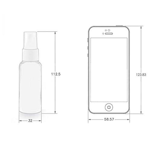 NALATI 6 X 50ml Zerstäuber Durchsichtig Plastik Parfümzerstäuber Leer Sprühflasche+1er Trichter für Reisen