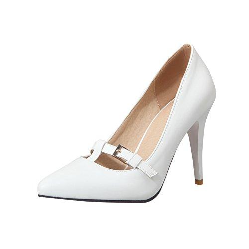 Mee Shoes Damen spitz Geschlossen high heels Pumps Weiß