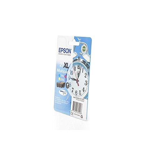 Original Epson C13T27154010 / 27XL, für Workforce WF-7720 DTWF 3X Premium Drucker-Patrone, Cyan, Magenta, Gelb, 3X 1100 Seiten, 3 x 10,4 ml -