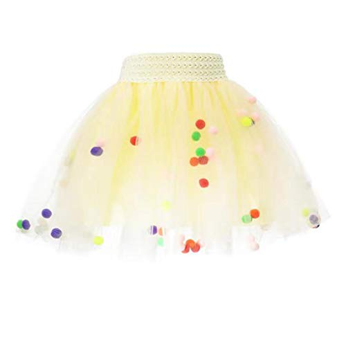 LoveLeiter Mädchen Kinder Tüllrock Tütü Tutu Ballettrock Tanzkleid Ballettkleid Ballettröckchen Rock Clubwear Mädchen Prinzessin Pailletten Rock und Kristall Tiara Krone Set Kind Dress-up Tüll Tutu