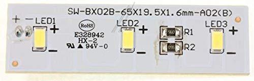 Original Candy Hoover 49031078 Kühlschrank-LED-Lichtkreisplatte