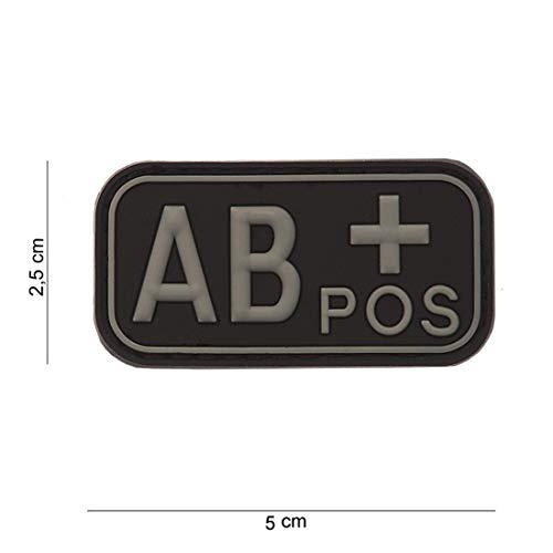 Typ AB+ positiv Softair Sniper PVC Patch Logo Klett inkl gegenseite zum aufnähen Paintball Airsoft Abzeichen Fun Outdoor Freizeit ()