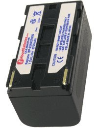 Batteria per CANON V500, Capacità elevata, 7.2V, 4600mAh, Li-ion