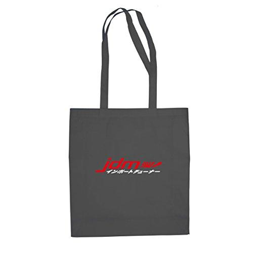 JDM Logo Japanisch - Stofftasche / Beutel Grau