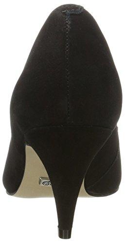 Buffalo Damen ZS 7446-16 Nobuck Pumps Schwarz (Black 01)