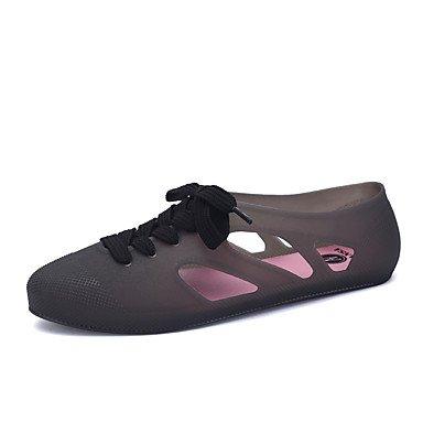 LvYuan Da donna-Sandali-Casual-Comoda-Piatto-Finta pelle-Nero / Giallo / Verde / Rosa / Tessuto almond / Verde chiaro Pink