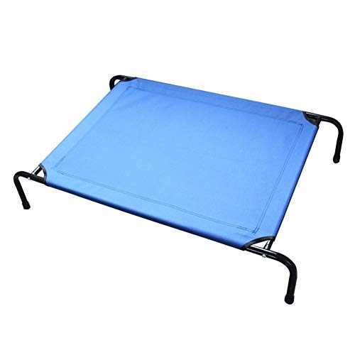 Traumfangen Leute Dog Bed Cooling Elevated Teslin Mesh Pet Cot Moisture Proof Non-Slip Mat Washable Sized for Small & Medium & Large Pet -