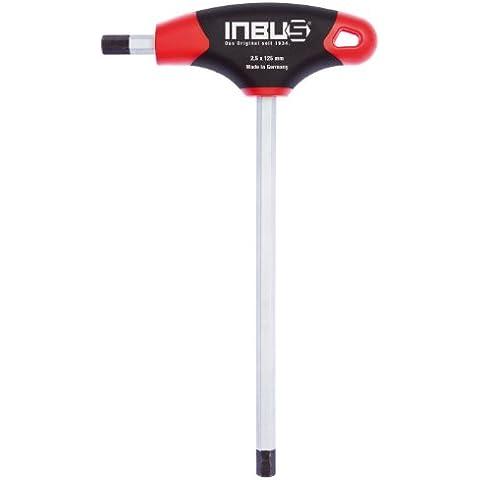 INBUS® 70051 juego de llaves Inbus / conjunto 2K mango en T 2,5 mm| Made in Germany | llaves de hexágono interior| llaves Allen acodadas| métrico