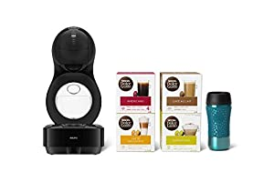 Nescafé Dolce Gusto KP130841 NESCAFE? Dolce Gusto Lumio Automatic coffee machine Black by Krups - 'Travel Kit' Pod, 1500 W, 1 Liter