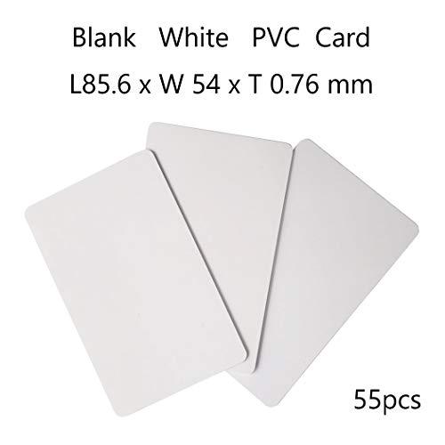 Jiaxing 55piezas  Tarjeta Blanca,Tarjeta PVC