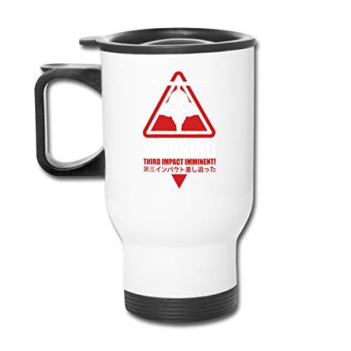 Third Impact Evangelion Anime Roboter Kaiju Doppelwandiger Vakuum-Kaffeebecher mit spritzwassergeschütztem Deckel für heiße und kalte Getränke (Tasse Design Impact Kalte)