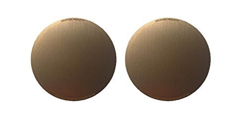 Goldfarbenes (TM) Brauen Disk Coffee Filter für AeroPress Coffee & Espresso Maker - Edelstahl Golden wiederverwendbar Filter - 2 Pack