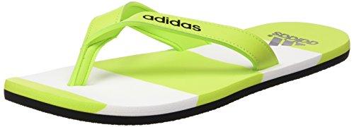 adidas Eezay Striped, Infradito uomo, Multicolore Verde / Negro / Blanco (Seliso / Negbas / Ftwbla), 42