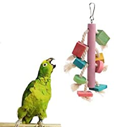 SLB Works Brand New Pet Bird Bites Parrot Climb Chew Toys Swing Cage Toys Parakeet Cockatiel Budgie
