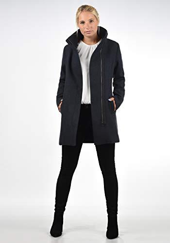 DESIRES Wolke Damen Winter Jacke Mantel Wollmantel Winterjacke mit Stehkragen, Größe:XS, Farbe:Insignia Blue Melange (8991) - 3