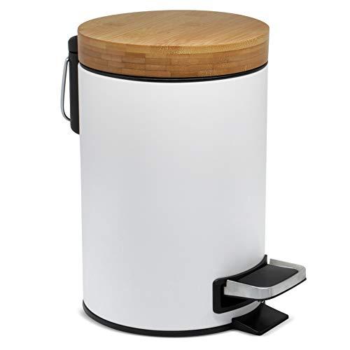 3l Cubo cosmético diseño | Tapa Madera bambú Sistema