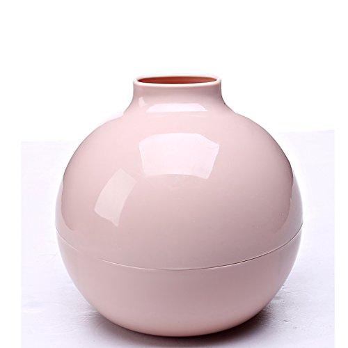 NYDZDM Support de Tissu en Plastique Circulaire de boîte de Couverture de Tissu pour la Voiture à la Maison de Bureau (Couleurs de Sucrerie) 16.5 × 18 Cm (Couleur : Pink)