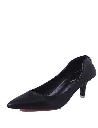 GS~LY Da donna-Tacchi-Casual-Tacchi-A stiletto-Finta pelle-Nero / Rosso / Argento black-us6 / eu36 / uk4 / cn36