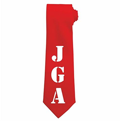 Jungesellenabschieds Krawatten mit JGA Schriftzug (Rot)