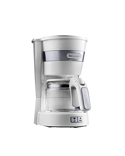 DeLonghi ICM14011W Delonghi ICM 14011w White Active Line Drip Coffee Maker Stainless Steel 650 W 5 CubicCentimeters