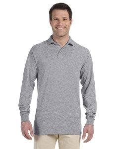 Adult 5.6 oz., SpotShield� Long-Sleeve Jersey Polo OXFORD L (Adult Polo Jerzees Jersey)