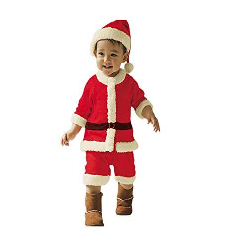 Baby Christmas Set - Kinder Santa Kostüme, einschließlich Tops + Hosen + Hüte Baby niedlichen Anzug