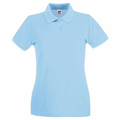 Fruit of the LoomDamen T-Shirt Blau - Himmelblau