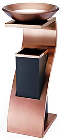 SZXC High-grade vertical stainless steel with ashtray trash canopy hotel supplies lobby elevator hall hotel lobby , double deck rose gold quality ash bin- Quality Assurance high quality