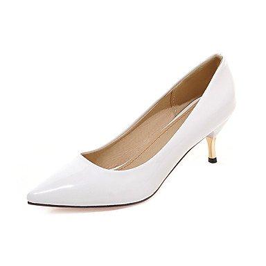 LYNXL Talloni delle donne Primavera Estate Autunno Dress Club similpelle nozze all'aperto ufficio & carriera Party & Sera casuale Stiletto HeelBlack White