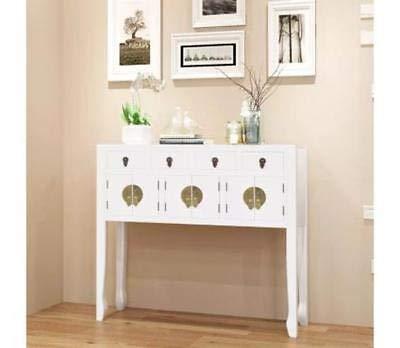 Generic storagee - credenza in legno massello, stile orientale, colore: bianco