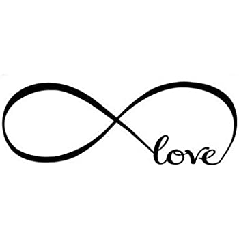 Stonges Love Infinity Symbol Wall Decal Quotes Vinyl Wall