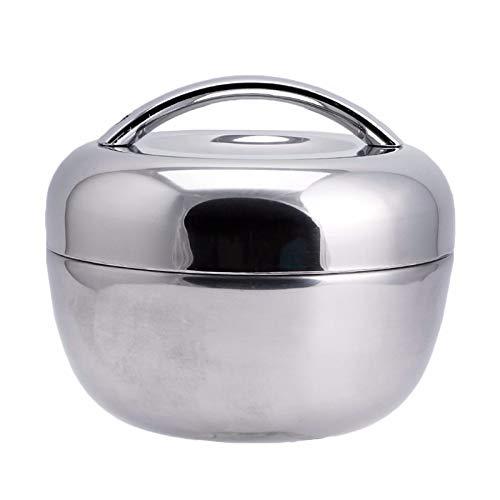 Isolierte Lunchbox, Portable Large-Capacity Edelstahl-Lunch Box, Stylish Shape, einfach und großzügig, geeignet für Office, Camping,1.3L