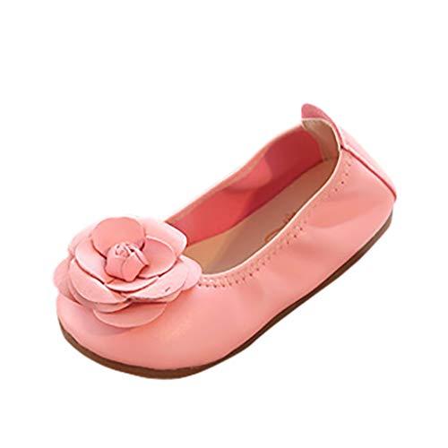 JiaMeng Baby Mädchen Tanzen Schuhe Blume Ornament Schuhe Weiche untere Schmetterling Tanzschuhe,...