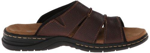 Dr. Scholl's Gordon Hommes Cuir Sandale Brown Leather