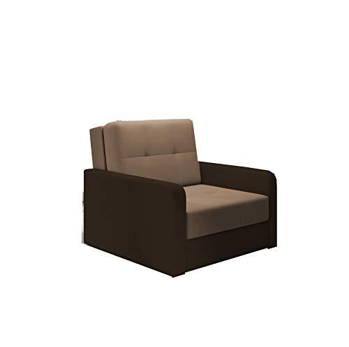 mb-moebel kleines Sofa mit Schlaffunktion und Bettkasten Schlafsessel Gästebett Jugendsessel Couch Bettsofa ERIK01
